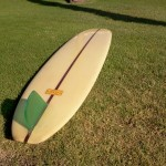 1964 Hobie green trnslucent fin
