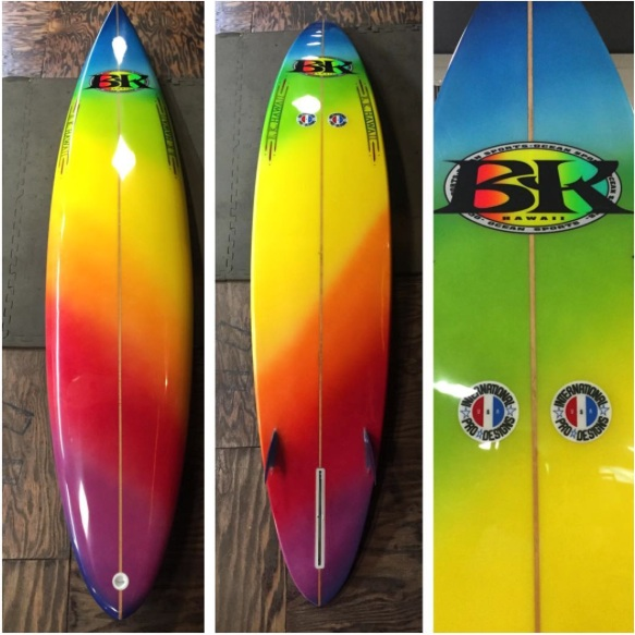 1981 8'0'' Barry Kanaiaupuni via Luis Real North Shore Surf Shop