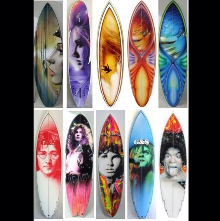Christian Chapman Surfboard Art