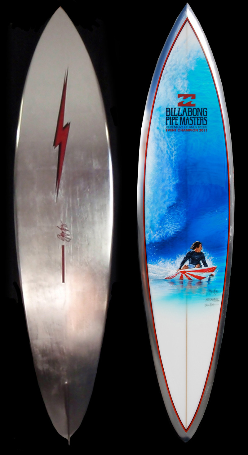 2011 Pipe Masters Trophy Board