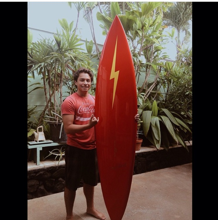 Nainoa With 70's Lightning Bolt