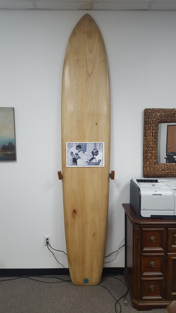 Dale Velzy and Larry Baily Balsa Surfboard