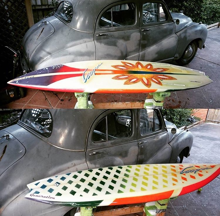 Vintage Surfboard Nathan White