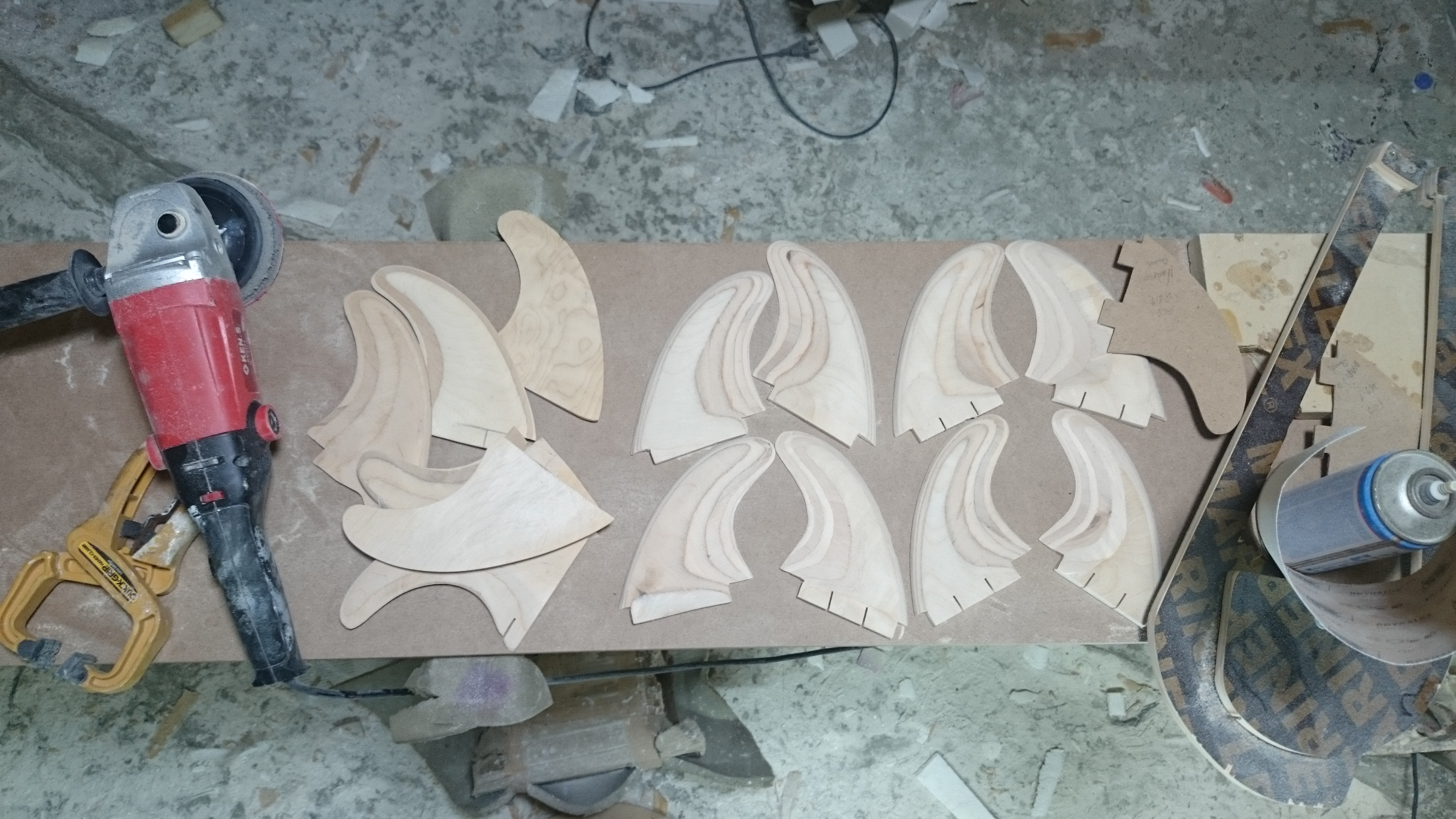 Hand Made Surfboard Fins by Paul Abbas