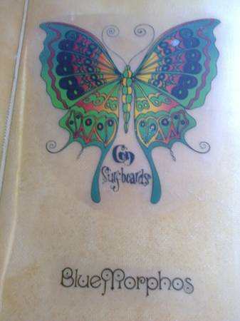 Con Surfboards Blue Morphos Logo