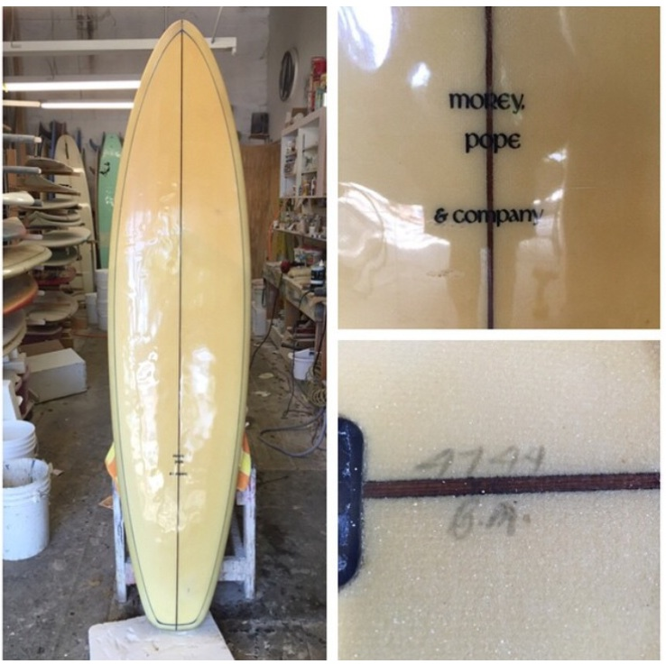 Morey Pope & Company Surfboard