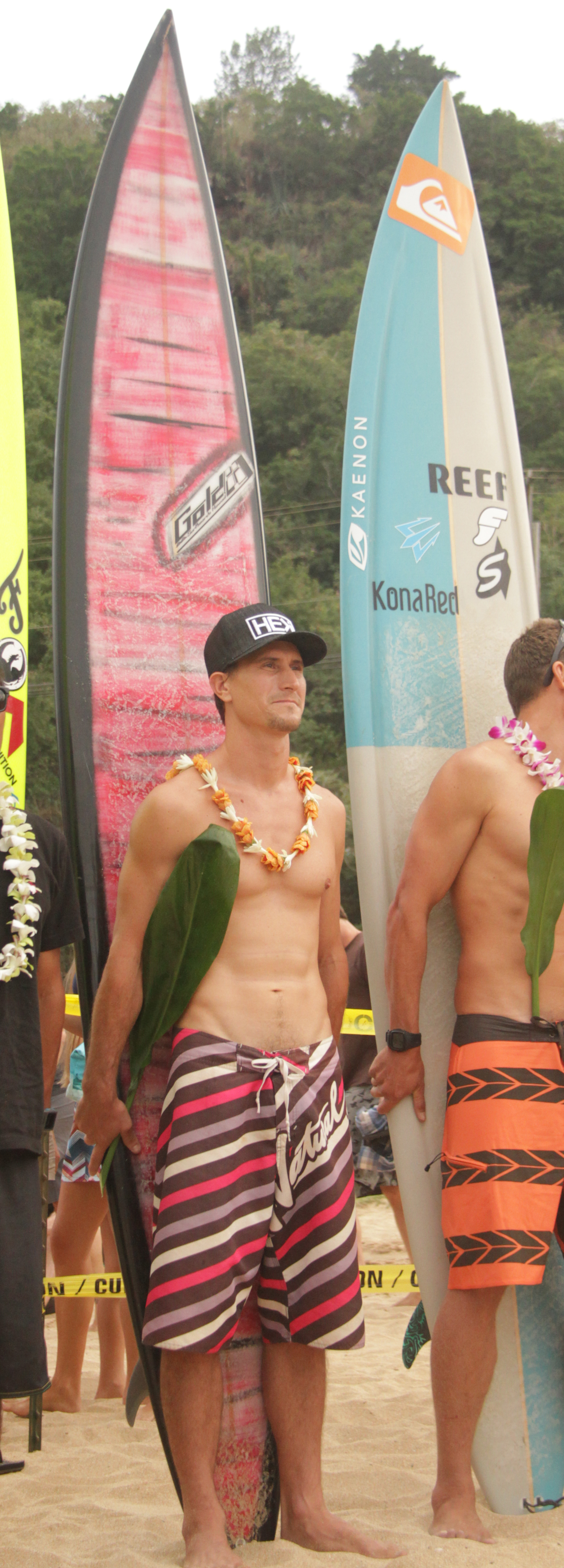 Aaron Gold's at the Eddie Aikau opening ceremony