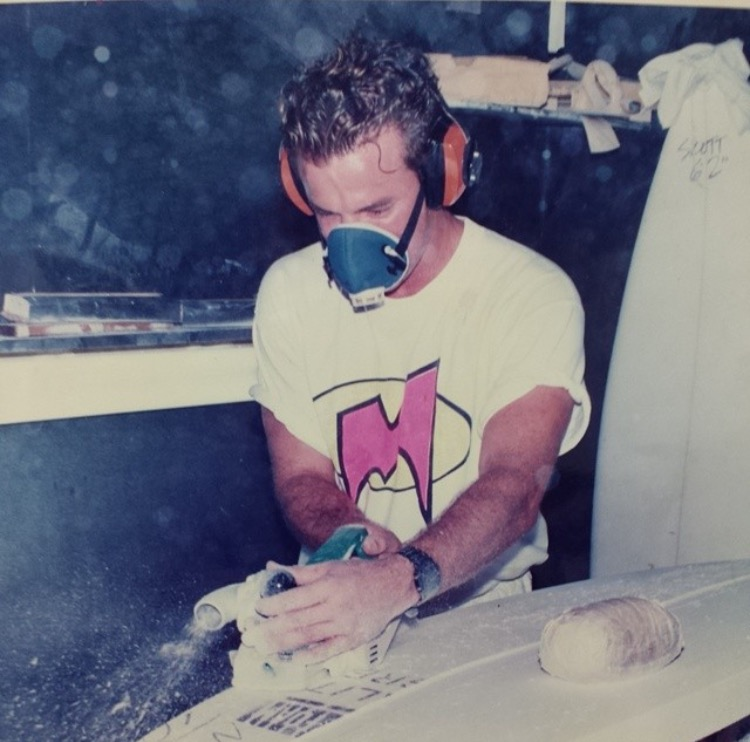 Ron Meeks in the shaping bay during his earlier years Photo: Courtesy of Ron Meeks