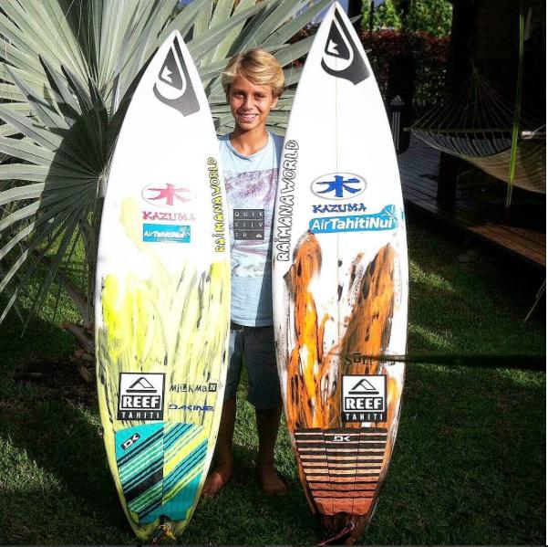 Matt's recent protege Tahitian super grom Kauli Vaast --