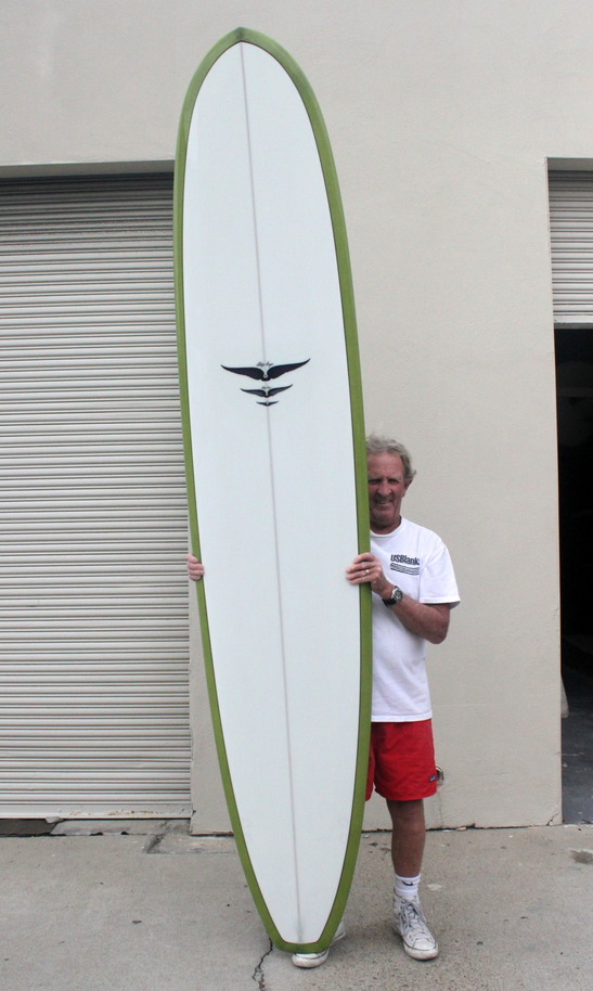 Skip Frye With A Finished Longboard