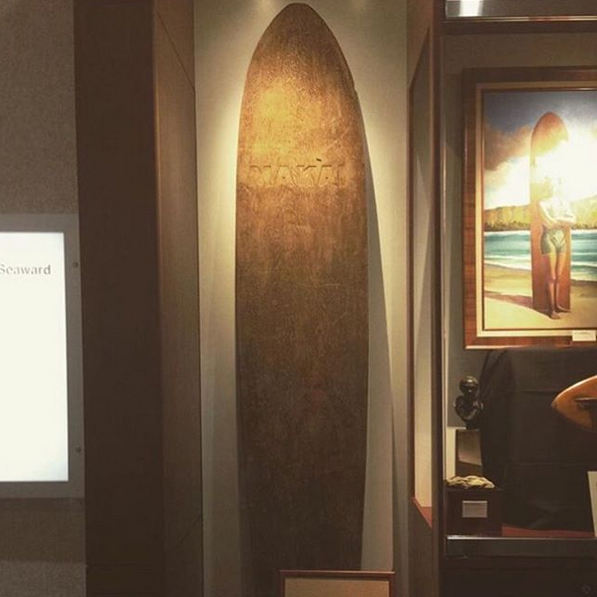 Duke Kahanamoku's Surfboard Makai