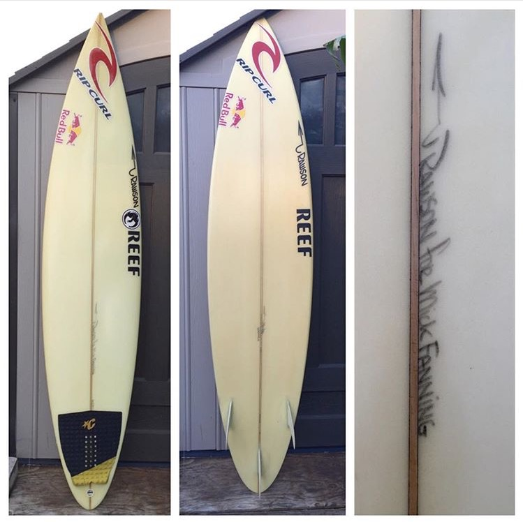 Pat Rawson Surfboard Shaped for Mick Fanning