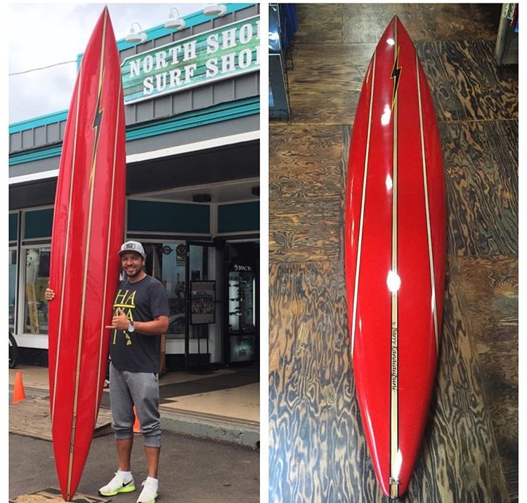 11'9'' Barry Kanaiaupuni Gun Luis Real North Shore Surf Shop