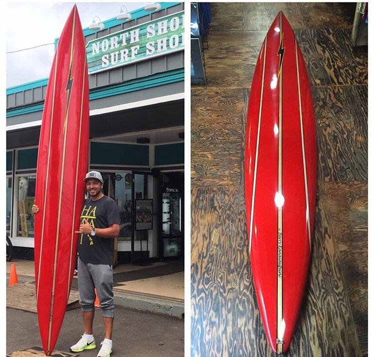 11'9'' Barry Kanaiaupuni Gun Luis Real North Shore Surf Shop