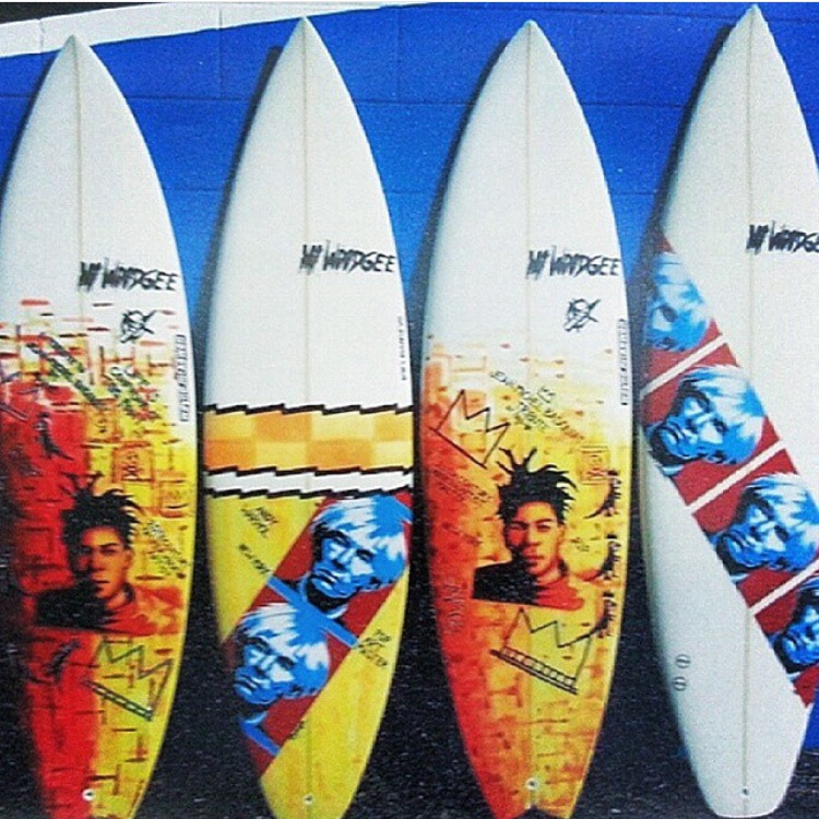 Baquite Pop art Surfboards Willy Nichols