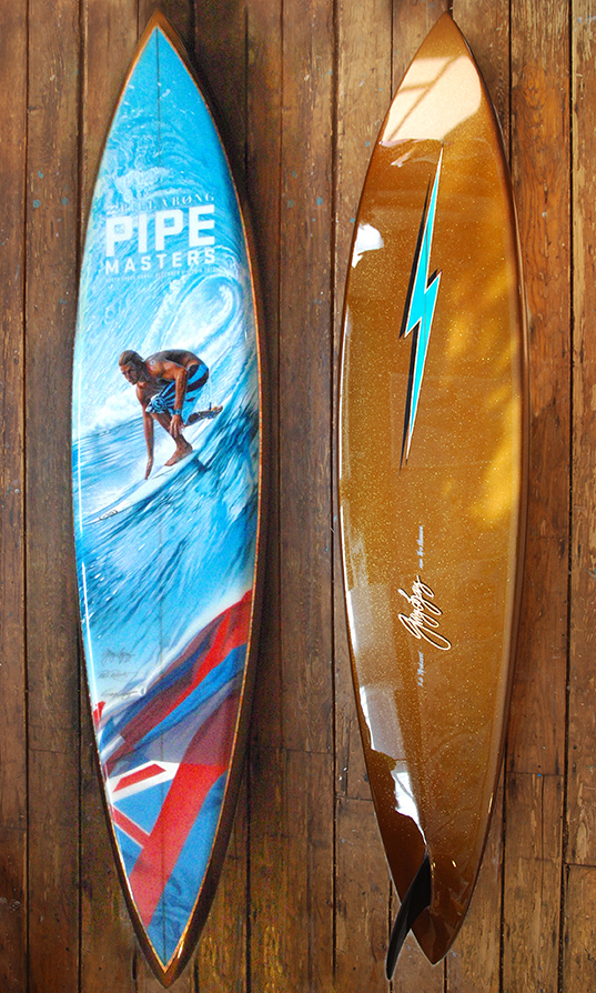 2013 Pipeline Trophy Board  Andy Irons Tribute