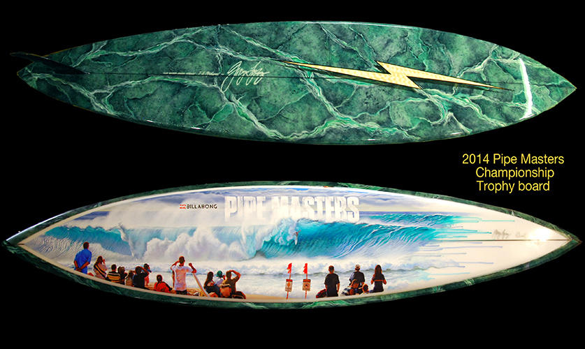 2014 Pipe Masters Trophy Board Gerry Lopez phil roberts