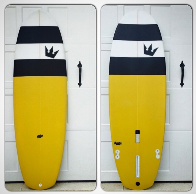6'0'' Black Atlantic Surfboards Single Fin