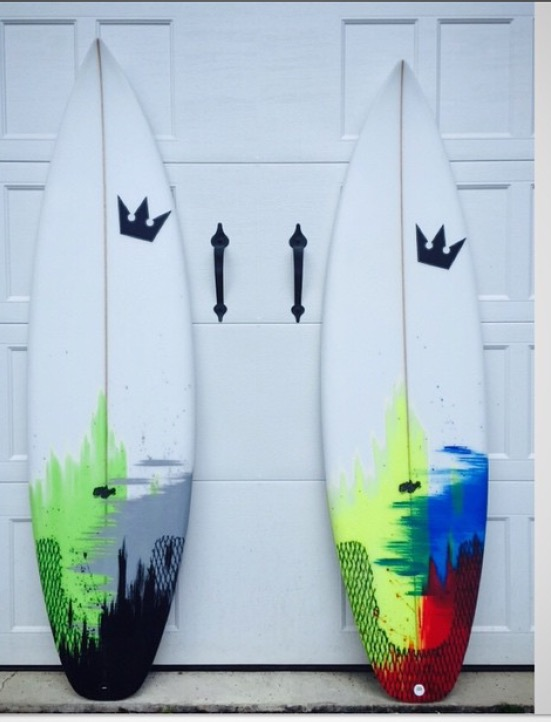 Two Black Atlantic Surfboards Double Standard Models