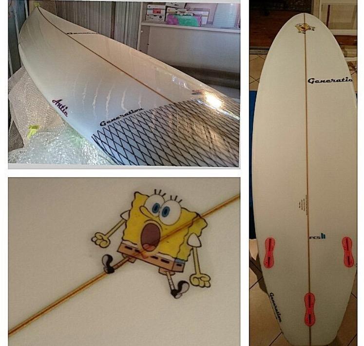 N White Surfboad