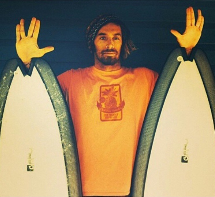 Dave Rastavich With Some Custom Shaped Gary McNeill Surfboards