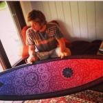 Rasta With Hist Gary McNeil Surfboard