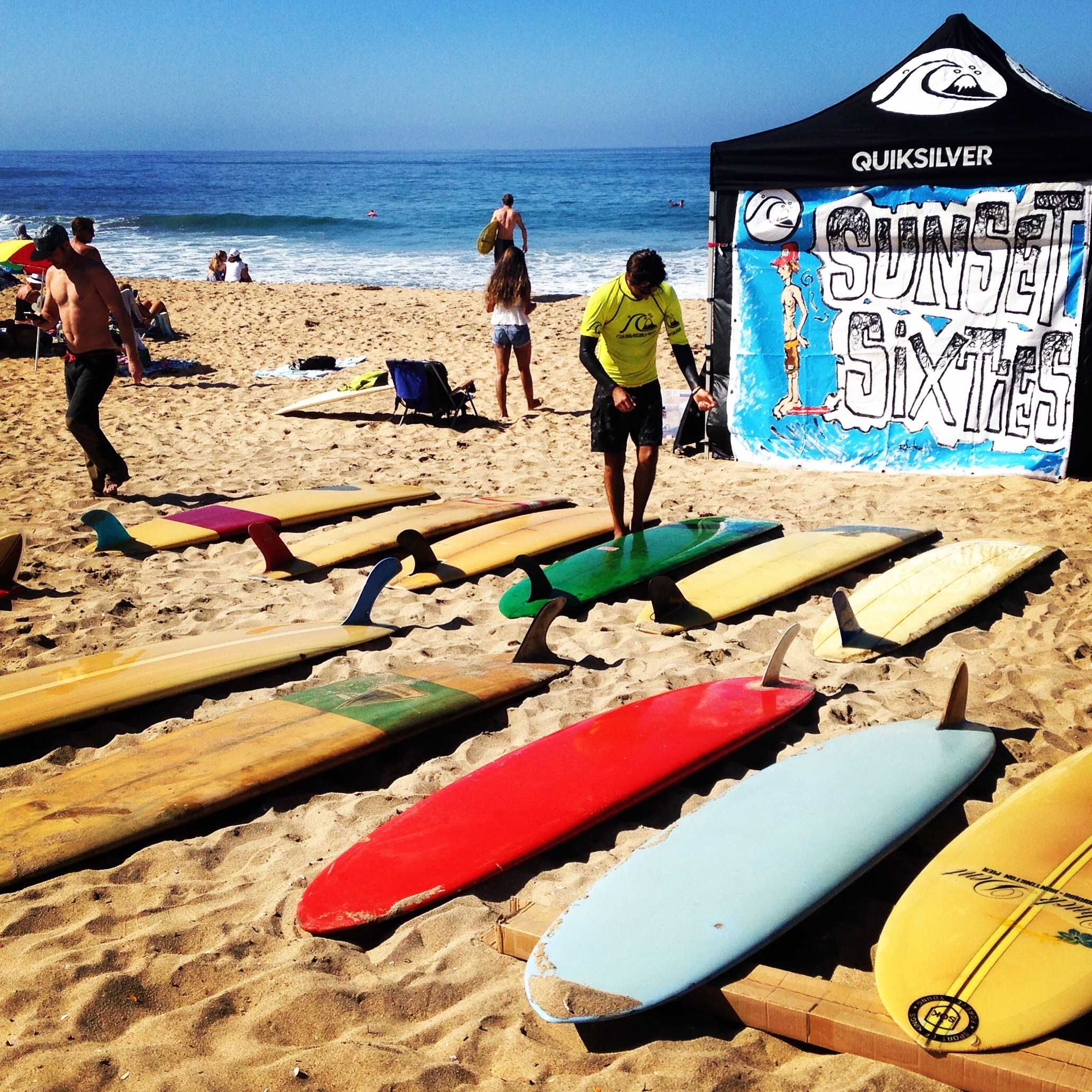 Vintage Surfboards at the Sunset Sixties event