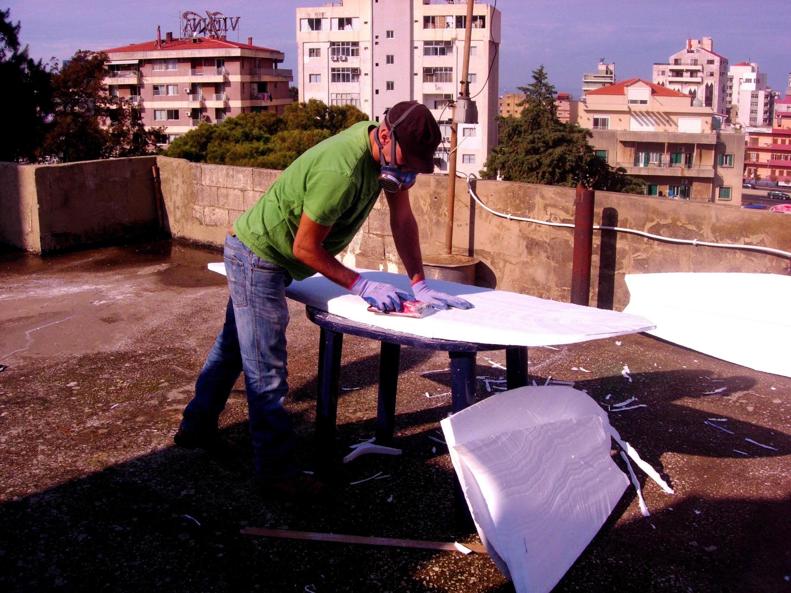 Paul Abbas Shaping A Surfboard