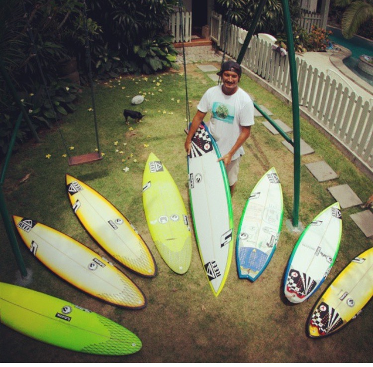 Mikala Jones Studer Surfboards Quiver