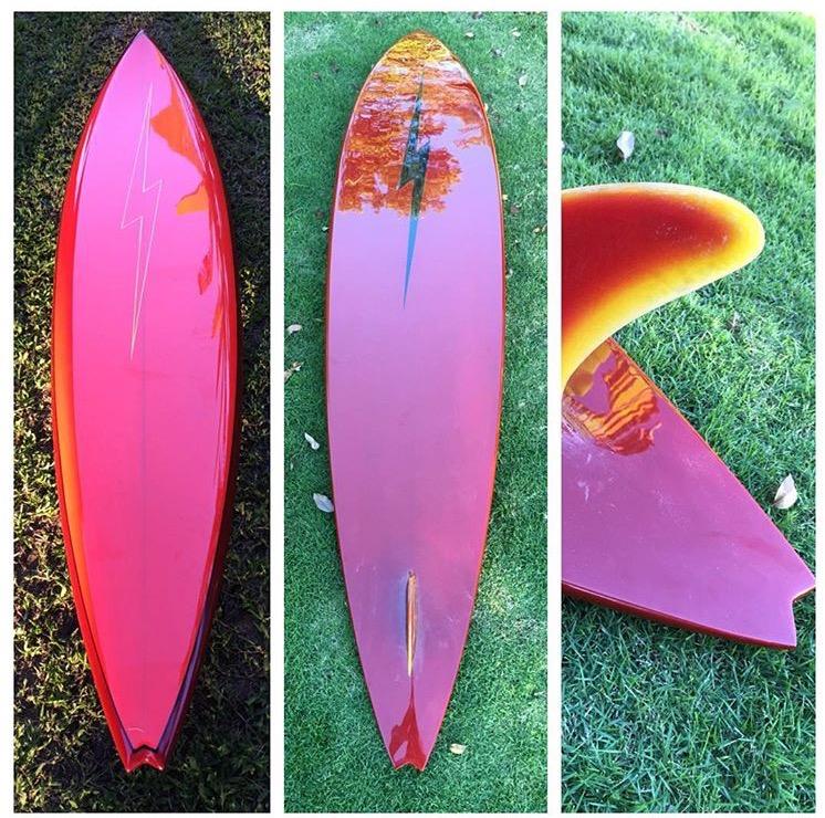 1977 Bill Hamilton Lightning Bolt Surfboard