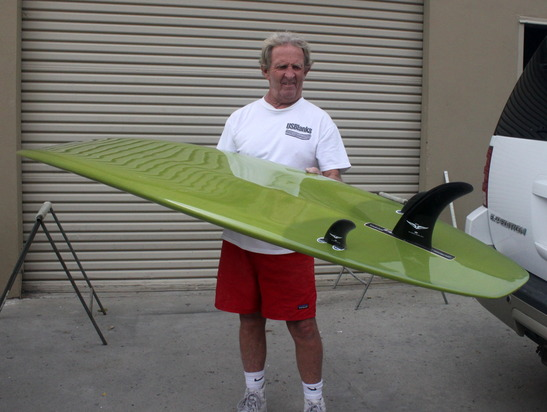 Skip Frye Showing A Recently Finished Board