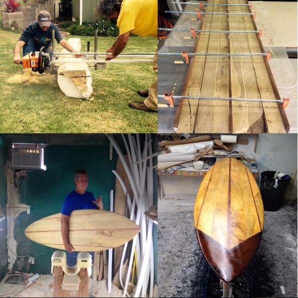 Board Shaped From A Wili Wili Log on Maui